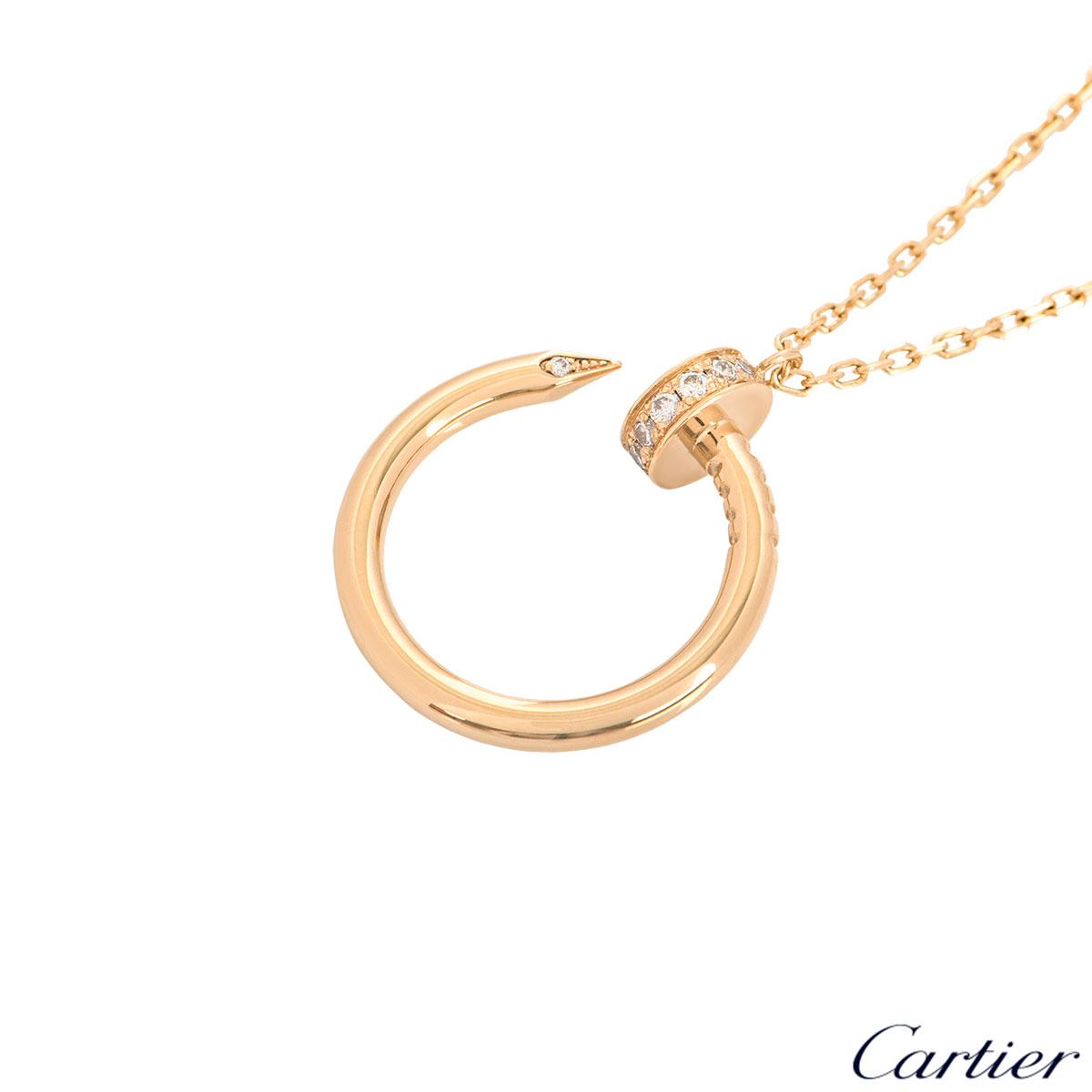 Cartier Yellow Gold Juste Un Clou Diamond Necklace B7224512